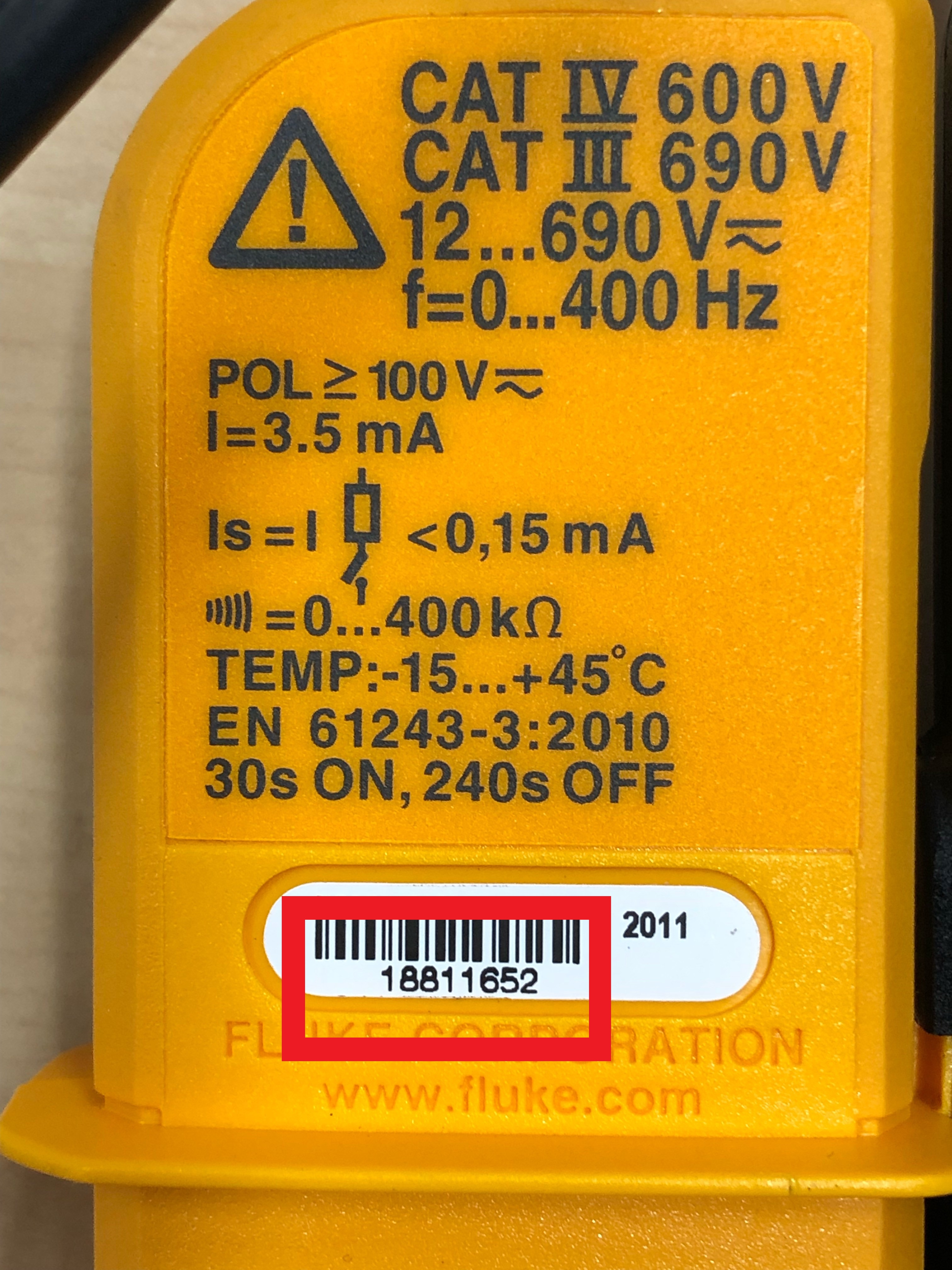 Bild Der Ruckseite Eines Betroffenen Produkts Mit Seriennummer JPG 1 MB